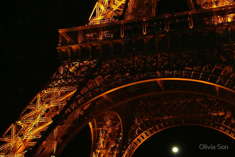 Eiffel Tower detail - Paris, FR by Olivia Son