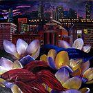 Fish and Flowers (Original) by sadeyedartist