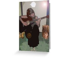 Faded Notes Greeting Card