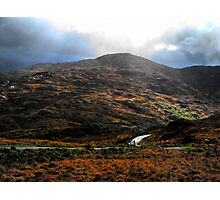 Sun Showered Mountains - Dunloe Photographic Print