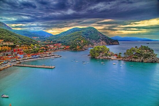Port of Parga by Kounelli