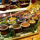 London. Harrod's Food Halls: Olives. Great Britain 2009 by Igor Pozdnyakov