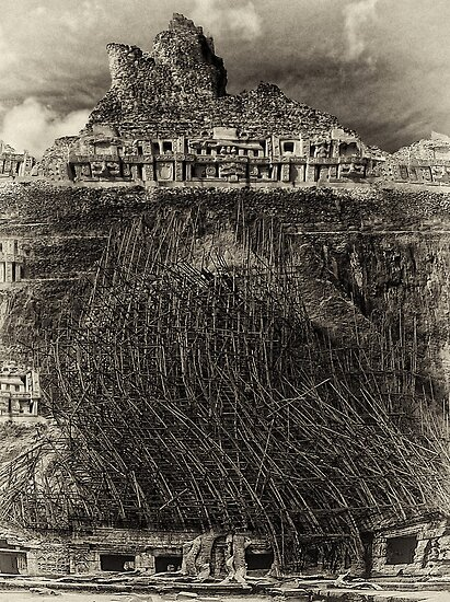 Construction Issues At The Hanging Gardens Of Babylon By Dennis William Gaylor Redbubble
