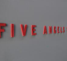 Five Angels Theater Sign by Henri Irizarri