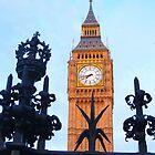 London. Big Ben through the Fence. Great Britain 2009 by Igor Pozdnyakov