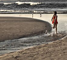 Girl in the red & white spot togs by dav15