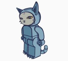 Blocky Cat Robot Blue by Adew