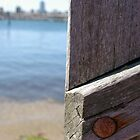 Melbourne Skyline, St. Kilda Pier detail by CDCcreative