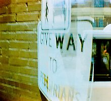 give way by Front Quarter Window