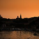Mgarr Harbour at Dusk by PhotoWorks
