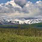 snow capped peaks of the Alaska Mountain Range by KathleenRinker