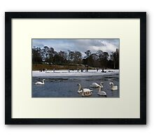 Skaters on Inverleith Pond - Edinburgh Framed Print