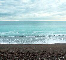 Beach at Loano (ligurian coast of Italy) by Ulf Buschmann