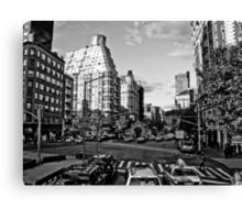 Intersection B&W Canvas Print