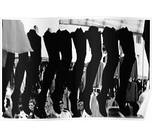 Stockings, Street market, Castelfranco, Italy Poster
