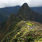 Terraces Of Machu Picchu Under The Sun by aguakina