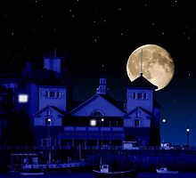 Knightstone Island in Moonlight by Sally Green