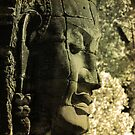 A Face at Bayon by David Henderson