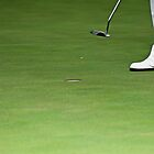 Golfer, Putter, and Hole by RatManDude