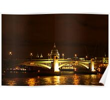 Thames At Night Poster