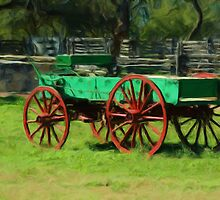 Old Wagon at Sauer-Beckmann Farmstead  by jabrwill