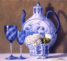 Peonies and China Blue by RickHansen
