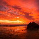 Burning sky - Pt Lonsdale by Hans Kawitzki