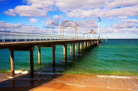 Brighton Jetty landscape by Elana Bailey