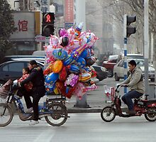 China, 2010, Nanjing, Balloon Seller by DaveLambert