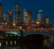 Across Princes Bridge by fotoWerner