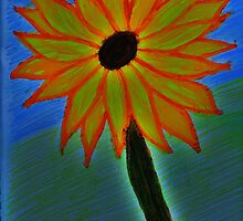 Lone Sunflower by Amber Brooks