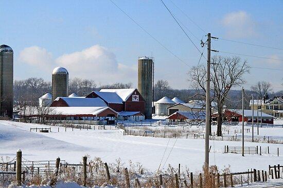 Winter Farm by Geno Rugh