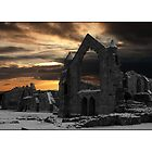 Sunset at Haughmond Abbey by dave2k11