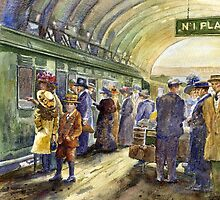 Off on holiday, London station by Pat  knight