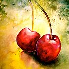 Cherries..Two... by  Janis Zroback
