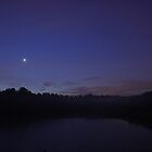 Venus and Regulus over the Spina Lake by Stefano  De Rosa