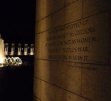 World War II Memorial- Washington D.C. by Amanda Yetman
