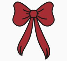 big red bow by teegs