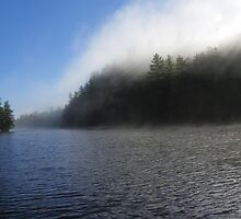 Early Morning Mist on Moxie Lake by MaryinMaine