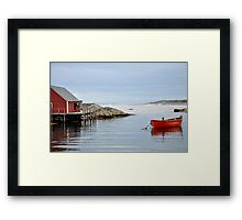 Red Boat - Peggy's Cove Nova Scotia Framed Print