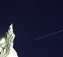 ISS/Space Shuttle and the angel by Stefano  De Rosa