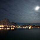 Svolvær moon by David Burren