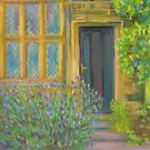 Lavender growing by a back door to East Riddlesden Hall by Susan Duffey