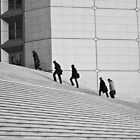 Climbers - La Défense, France - 2009 by Nicolas Perriault