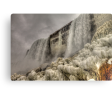 Falling Waters and Frigid Ice Metal Print
