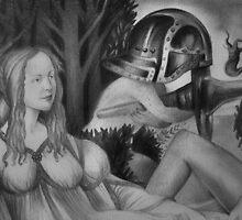 Venus in contemplation by Ehivar Flores Herrera