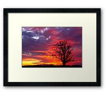 Shades of Sunset Framed Print