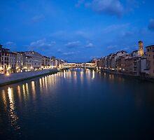 River Arno & Ponte Vecchio by mateo