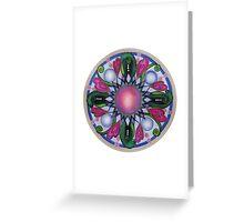 Mandala : Pink Heart  Greeting Card