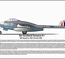 De Havilland Vampire F1 Profile by coldwarwarrior